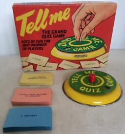 🛎 1960 Vintage Spears Tell Me Quiz The Grand Quiz Game - Highly Collectable