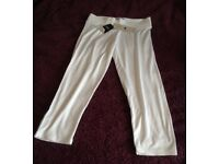 Cropped White Leggings from Next - Size 10