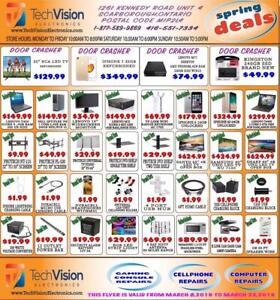 TECHVISION ELECTRONICS SPRING SALE FLYER FROM MARCH 8 TO MARCH 22, 2019
