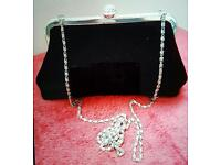 Black Velvet Evening Clutch Bag