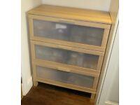 Ikea 3 drawer storage cabinet