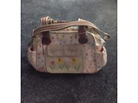 Lovely girls 'Blooming Gorgeous' changing bag, Mat & Zip Pouch