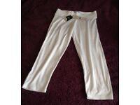 White Cropped Leggings from Next - size 10