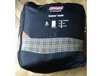 Double sleeping bag rectangular cotton Coleman Hampton Double 220 x 150cm