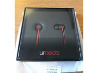 Dr. Dre UrBeats In-Ear Only Headphones Black Red Edition Box Packaging | NEW