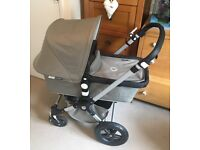 Bugaboo Cameleon 3 Classic in khaki with raincover and leather upgrade