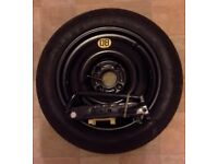 Spacesaver Spare Tyre and Jack - Continental. 125/80 R15 95M
