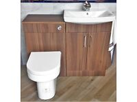 Bathroom basin and WC units inlcuding cistern and basin mixer