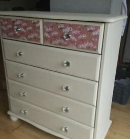 Upcyled chest of drawers
