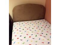 Single low bed and headboard ideal for junior or child good condition