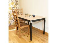 Upcycled solid pine dining, kitchen, work, desk or table.