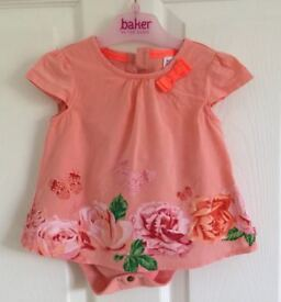 Baker by Ted Baker - Baby 2 in 1 dress and bodysuit - 3 to 6 months