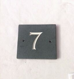 Slate door number 7 plate brand new