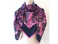 Silk scarf art images black rose white