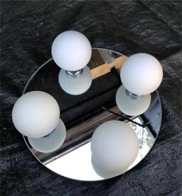CHROME 4 BALL LIGHT FITTING SUITABLE FOR BATHROOMS AND KITCHENS