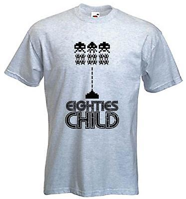 80s CHILD T-SHIRT - 1980s Fancy Dress Gaming Space Invaders - Choice Of - Kids Space Invaders T-shirt