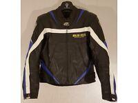 Postage Available *Arlen Ness Live On The Edge *Leather Motorcycle Jacket *Black Blue *EU 50 UK 40