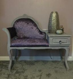 French Louis style telephone table / seat