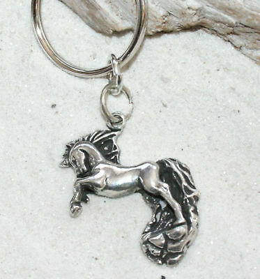 UNICORN FAIRY HORSE HORN Pewter KEYCHAIN Key Chain - Fairy Key