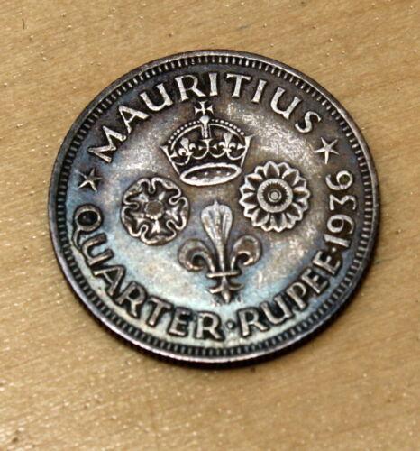 1936 Mauritius 1/4 Rupee Silver