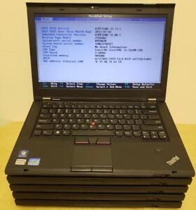 LOT OF 5 x Lenovo ThinkPad T430S Slim Ultrabook 14 Core i5 3rd Gen/4GB/320GB 7200RPM/Webcam Business Laptops Off-Lease
