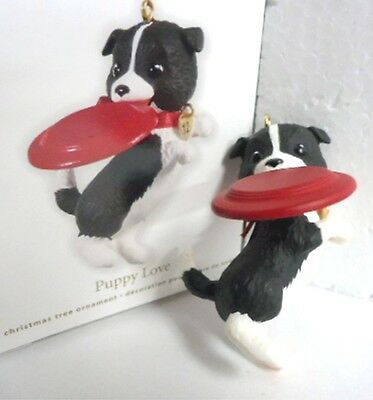 ( HALLMARK 2012 Puppy Love series Christmas Ornament New in Damaged Box)