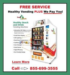 FREE Snack4Health Vending Machine With Service At Your Business  (855) 699-3555