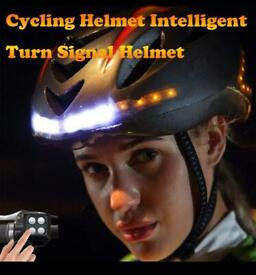 Cycling helmet with indicators and remote