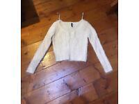 H&M fluffy cropped jumper