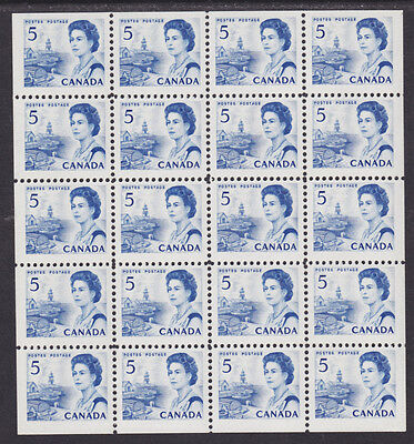 Canada Sc 458b MNH. 1967 5c blue QEII Miniature Pane of 20 VF