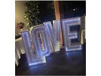 4 foot light up love letters to rent!!