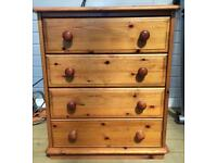 Small Solid Pine Chest of Drawers