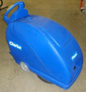 Clarke Fusion 20T Walk Behind Floor Burnisher Cleaner Scrubber Polisher Traverse Power w/ NEW batteries 4.5 hours use!