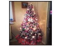 6ft Black snow effect Christmas tree