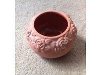 Terracotta rose bowl