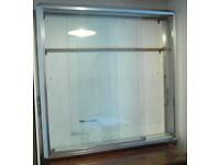 Wall Display Cabinet, Aluminium & Glass, Professional Retail Quality but also suitable Domestic use.