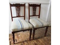 A pair of late Victorian/Edwardian dining chairs