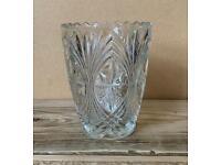 Ornate glass vase