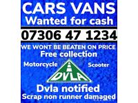 🔵💷 All Cars Vans Wanted Cash Waiting Any Condition Sell My Scrap