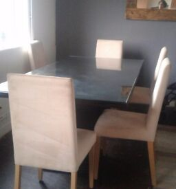 Reduced* Black dinning table £50