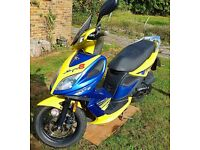 Kymco Super 8 Scooter ( Moped ) 50cc Very Reliable 4 stroke Reg 09/11/2011 CK50QT-6-0B