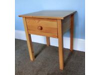 One Bedside Pine Cabinet with Drawer