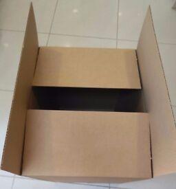 £3 Each LARGE CARDBOARD BOXES SALE: 41cm (L) x 50cm (W) x 62cm (H) Home Move/Storage/OnLine Business
