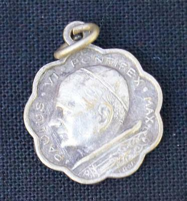 Vintage Religious Medallion Pendant Pope Maximus