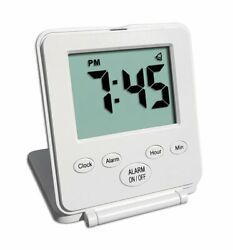 Digital Travel Alarm Clock Loud Alarm, Snooze, Small And Light, On/Off Switch