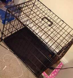 Medium Dog Crate/Cage, Only Used Twice, Folding, Slide Out Bottom, £30