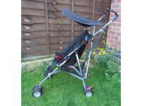 BabyStart 4 Wheeler Pushchair Baby Stroller Pram Lightweight Travel Lightweight foldable