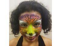 Professional Face Painter - Glitter Artist - Glitter Tattoos