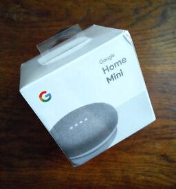 Google Home Mini Speaker - Brand New, Unopened, Unused
