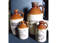 Collection of stoneware Cider jugs - various sizes ( may sell individually)